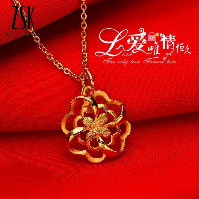 阿丽埃缇 千足金吊坠,2克黄金项链,黄金吊坠,价格,款式,图片